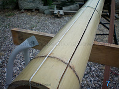 Cutting the bamboo laminate for the longbow